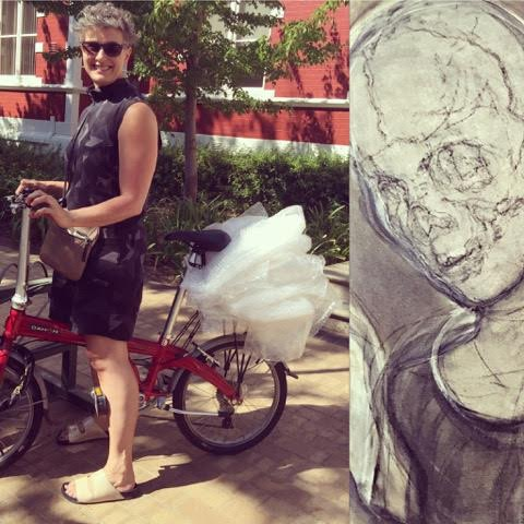 Fietsportret: Shany van den Berg (kunstenares)