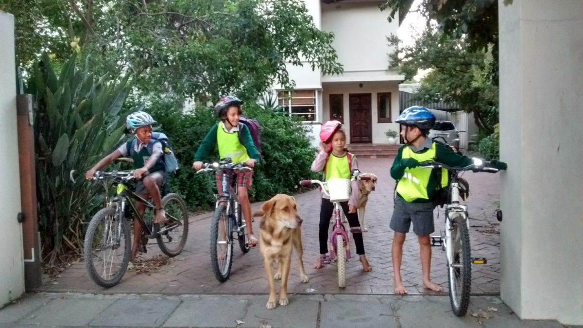 Fietsportret: Die Morris-gesin ry Stellenbosch plat op hul fietse